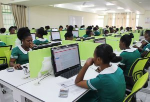 The Nursing and Midwifery Council organizing online examination in one of the exam centers.